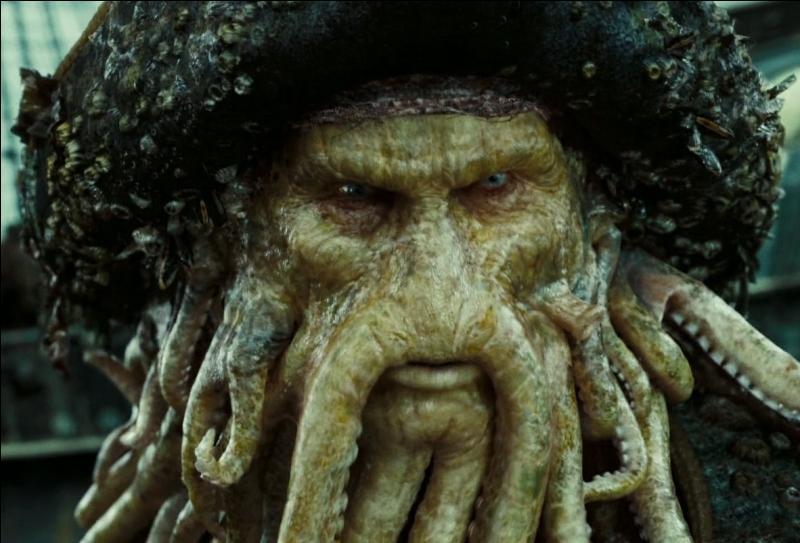 Dans quelle saga cinématographique peut-on rencontrer Davy Jones, un pirate maudit transformé en poulpe ?