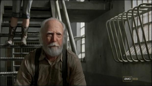 Dans la prison, où Hershel s'est-il fait mordre ?