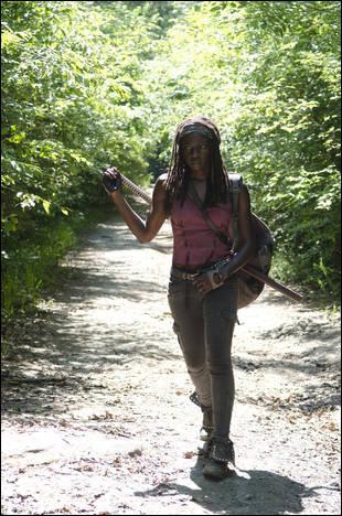 Après la bataille, tout le groupe se trouve séparé. Comment Michonne retrouve-t-elle Carl et Rick ?