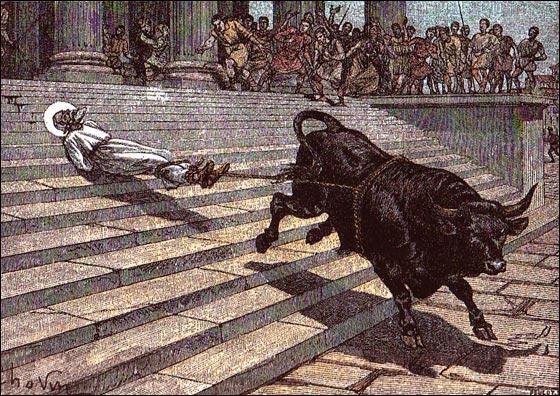 Évêque de Toulouse en 250, interpellé par une partie des païens, sans le moindre procès, il fut attaché à un taureau, préférant mourir avec le Christ que vivre sans lui. Qui est-il ?