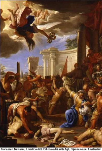 En 150 cette dame romaine lors de son jugement, laissa et accepta la décapitation de ses sept fils pour la foi. Qui est-elle ?