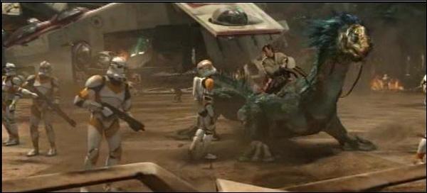 Quel animal imaginaire a servi de monture pour Obi-Wan ?