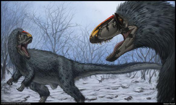 Quel tyrannosauridae possédait des plumes et a été récemment découvert en Chine ?