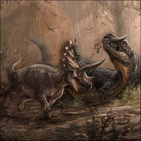 Si un tricératops se cassait une corne, en repoussait-il une autre ?