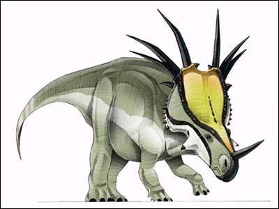 Dinosaures à cornes : pour les 6 dinosaures qui vont suivre 3 d'entre eux ont réellement existé, les 3 autres sont imaginaires. Ce dinosaure à cornes a-t-il réellement existé ?