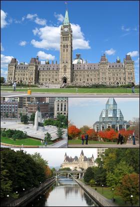 Laquelle de ces villes est la capitale du Canada ?