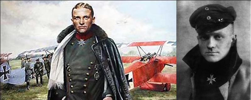 Pilote de chasse allemand de la 1e Guerre mondiale, c'est « l'as des as » de la 1e Guerre mondiale avec 80 avions abattus. On connaît surtout son surnom, le « baron rouge » !Quel est ce pilote de guerre ?