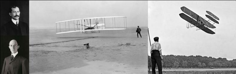 Avant de se « lancer » dans le vol motorisé, ils se familiarisent avec le vol en planeur. Ils réaliseront leur 1e vol en décembre 1903.On considère ce vol comme le 1e de l'histoire de l'aviation malgré quelques problèmes.Qui sont ces inventeurs ?