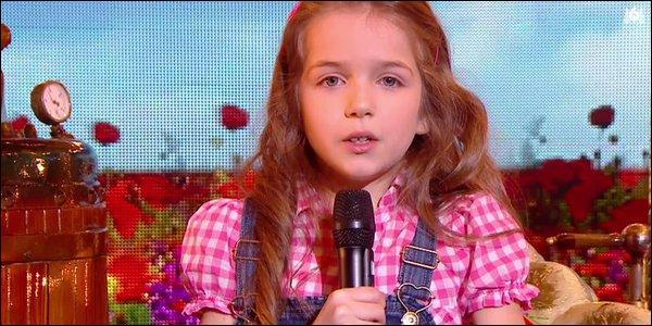 Pour terminer cette aventure elle a décidé de chanter :