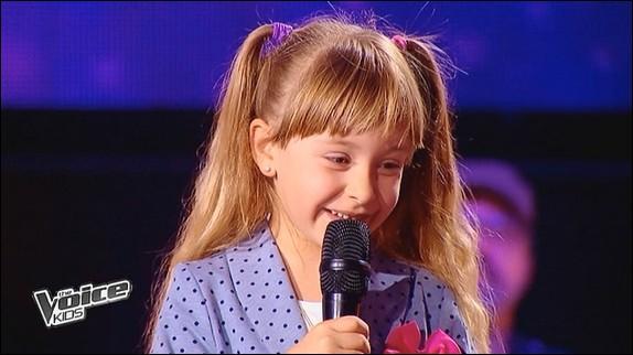 Lors de sa première audition à The Voice Kids qu'a-t-elle chanté ?