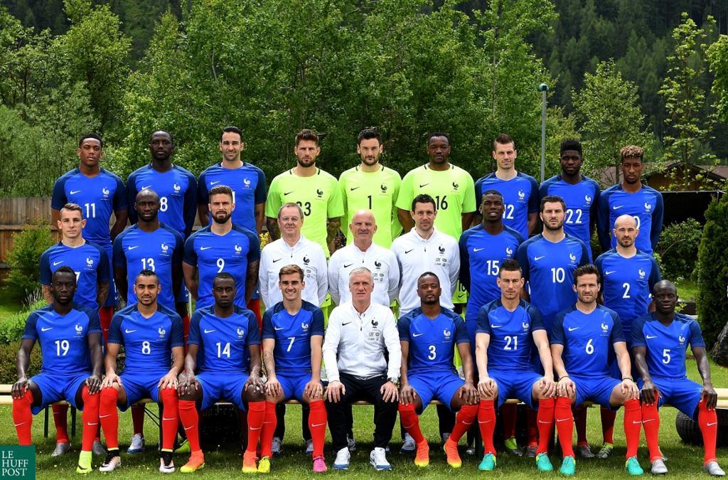 Les joueurs de l'équipe de France à l'Euro 2016