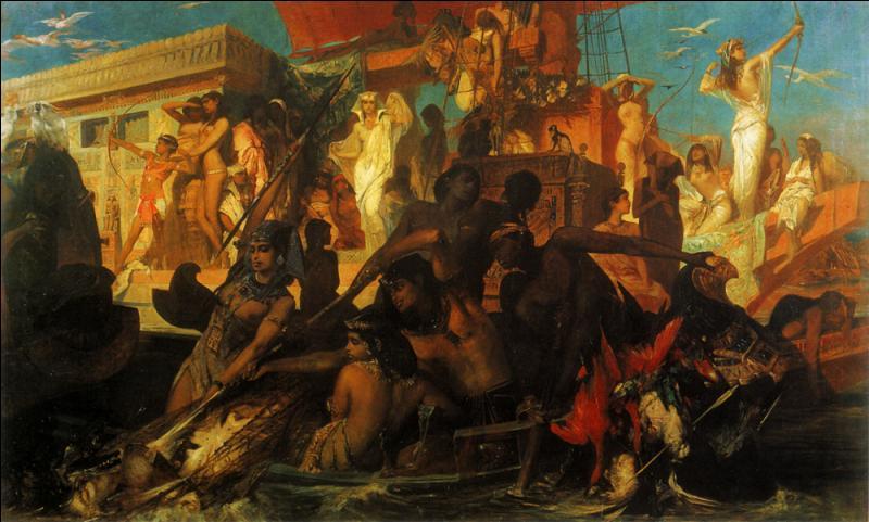 """Qui a peint le tableau """"La chasse sur le Nil de Cléopâtre"""" en 1874 ?"""