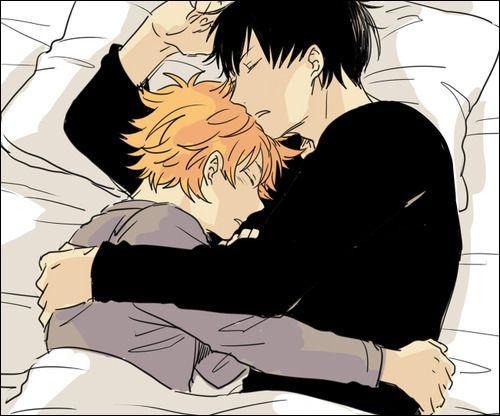 De qui est composé ce charmant couple ? Un indice : ils font partie du manga Haikyuu.
