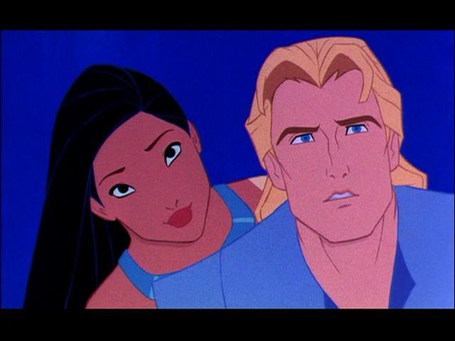 """À la fin du dessin animé """"Pocahontas, une légende indienne"""" sorti en 1995, Pocahontas et John sont séparés."""