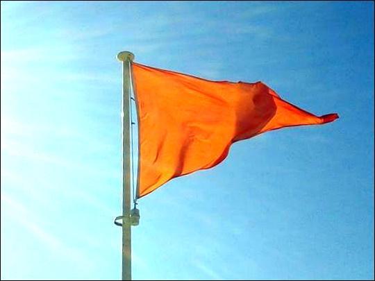 Ce drapeau m'interdit-il d'aller me baigner ?