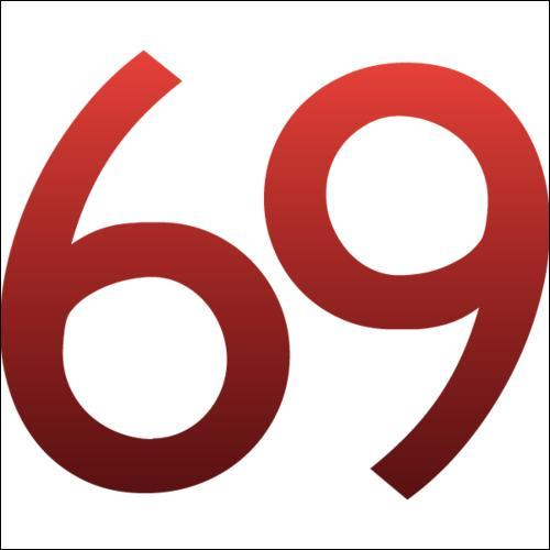 Le nombre 68 précède le nombre 69.
