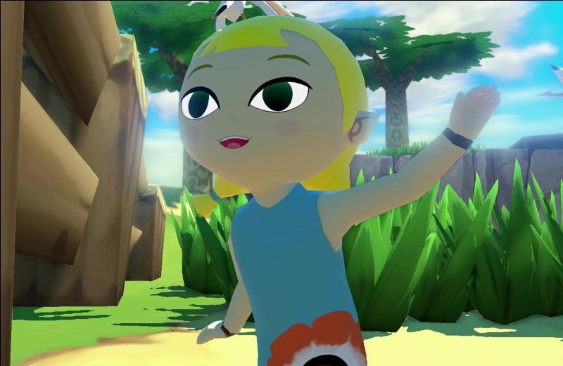 Que prête la petite soeur de Link à celui-ci pour observer le facteur au loin ?