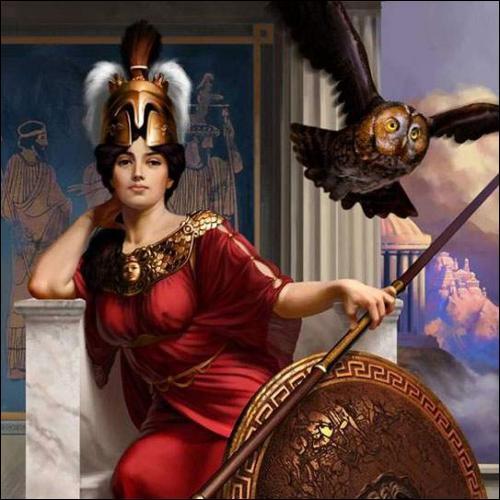 C'est la déesse de l'intelligence et de l'habileté, de l'artisanat, de la sagesse et protectrice d'Athènes. Qui est-elle ?