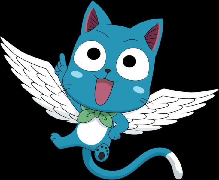 """Un chat bleu qui parle et vole, ce n'est pas courant ! Et pourtant dans """"Fairy Tail"""", il y en a un ! Mais comment s'appelle-t-il ?"""