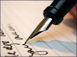Combien de fois vous a-t-on dit que vous aviez une belle écriture ?