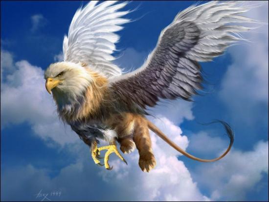Le griffon a des ailes d'aigle, un corps de lion, des oreilles de cheval et une queue de :