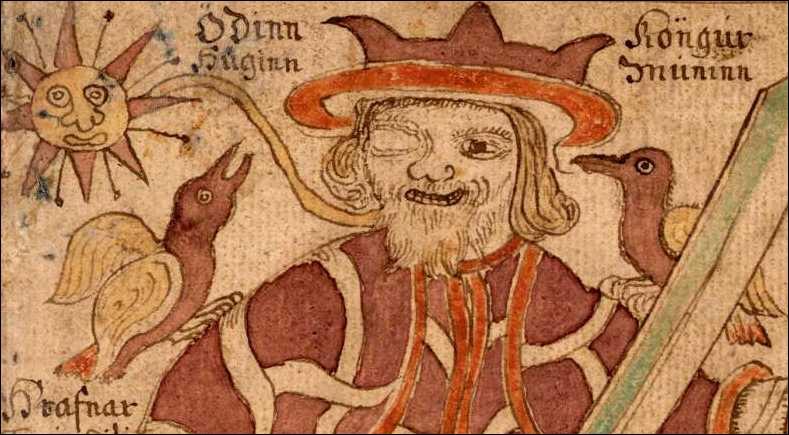 Quels sont les deux corbeaux d'Odin ?