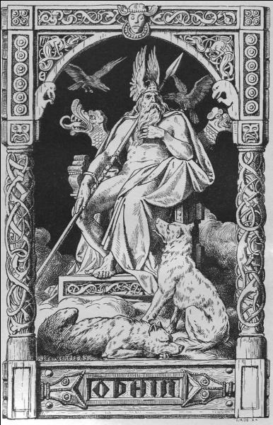 Odin a aussi des loups. Geri et :