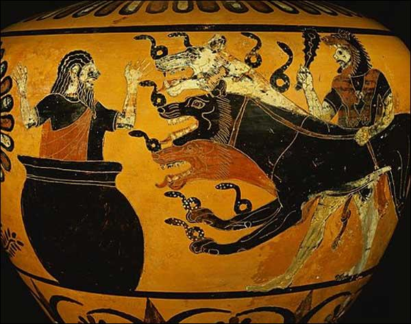 Quel chien à trois têtes garde les Enfers ?