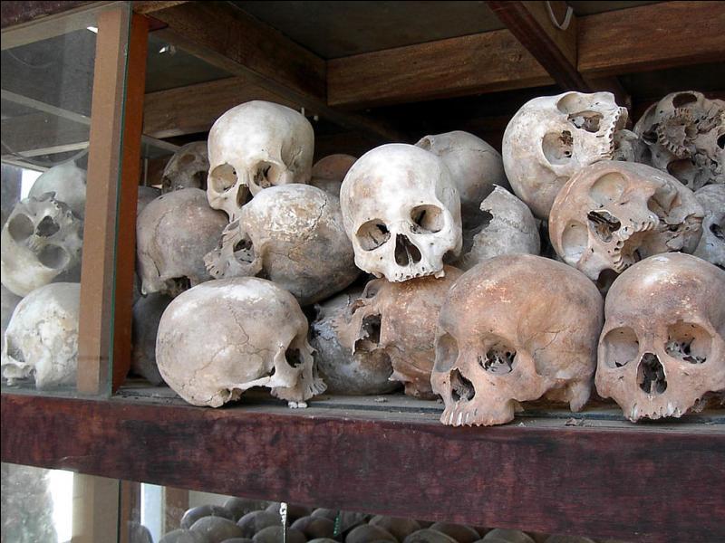 Les Khmers rouges de Pol Pot massacrent la population, provoquent des famines et organisent des persécutions politiques, ethniques et religieuses, faisant 740 000 à 2 200 000 morts de 1975 à 1979. Quel pays a été frappé ?
