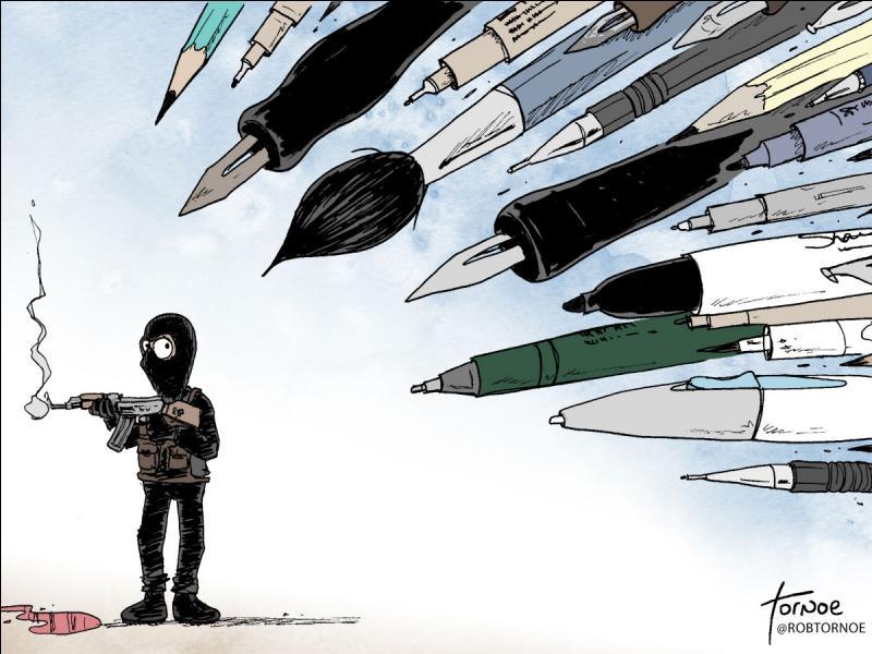 Quel journal a été victime d'un attentat terroriste ?