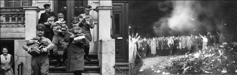 Le 10 mai 1933 : Les nazis se sot attaqués aux personnes, mais, ce ne fut pas tout, ils s'attaquèrent aussi aux œuvres des artistes.Que se passa-t-il ?