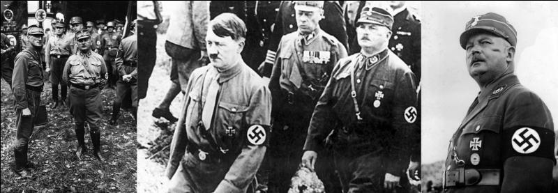 Le 06 juillet 1933 : Hitler annonce la fin de la « Révolution » ! Mais une opposition au sein de son parti se fait entendre.Quel est cet homme ?
