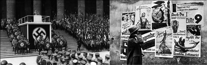 Le 05 mars 1933 : A son arrivée au pouvoir, Hitler avait demandé au président Hindenburg une première action destinée à fortifier son pouvoir. Hindenburg accepta !Que s'est-il passé le 05 mars 1933 ?