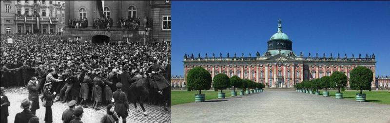 Pour fêter la victoire, les nazis ont organisé une cérémonie pour l'ouverture de la nouvelle session du Parlement allemand.Comme le Reichstag a été incendié, où a été organisée cette cérémonie ?