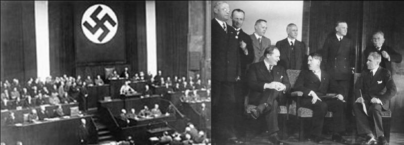 Le 23 mars 1933 : Hitler fait édicter la loi « édictée en vue de remédier à la détresse du peuple et du Reich ».Que signifie cette loi ?