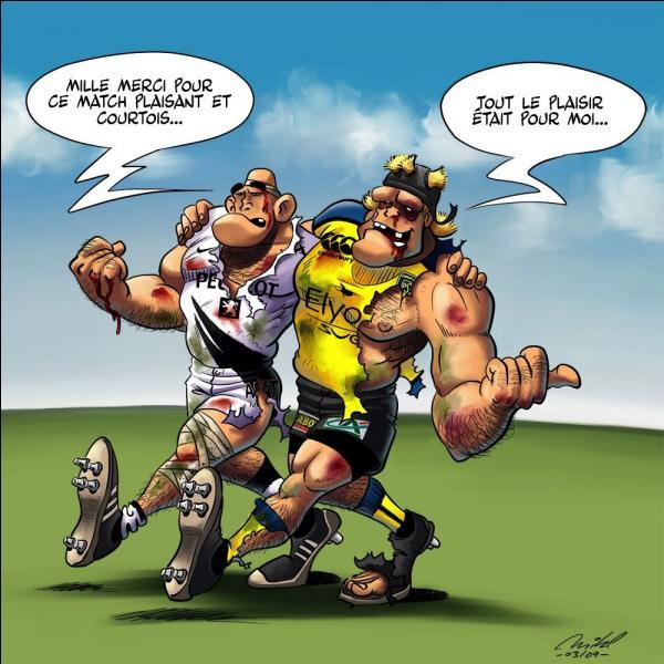 Continuons par les perles des entraîneurs de rugby : Ok les gars, vous êtes 37 donc faites trois groupes de .. enfin quatre groupes de ...