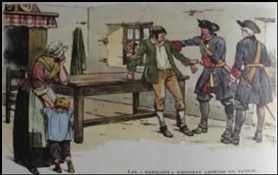 Sous l'Ancien Régime, quel douanier était chargé de collecter l'impôt sur le sel ?