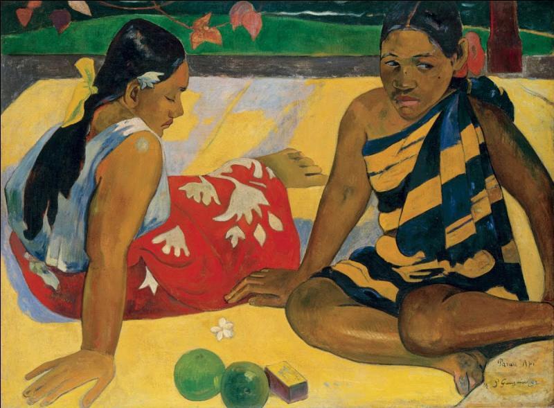 """Qui a peint """"Femmes de Tahiti"""" en 1891 ?"""