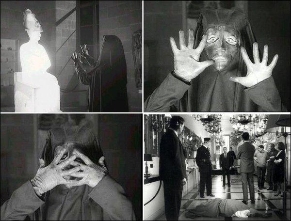 Au milieu des années 60, à Paris, dans le musée du Louvre, un fantôme se promène la nuit. Différents méfaits ont lieu (disparitions, morts étranges...). Un étudiant, aidé d'un commissaire, décide de mener l'enquête.