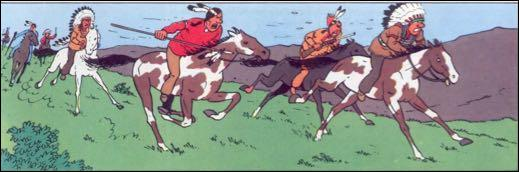 Comment s'appelle la tribu de peaux-rouges qui capturent Tintin en Amérique ?