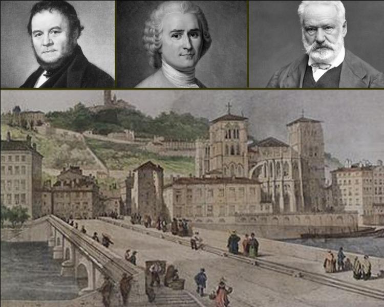 """Quel auteur français a évoqué dans """" Mémoires d'un touriste """", la ville de Lyon, qualifiant le Rhône d'impétueux et la Saône de paresseuse?"""