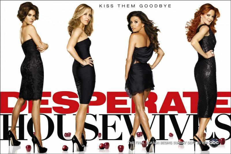 """""""Desperates Housewives"""" est l'histoire du destin de 5 femmes, 5 personnages principaux depuis le 1° épisode, Susan Mayer, Lynette Scavo, Bree Van de Kamp, Gabrielle Solis et la narratrice de presque tous les épisodes, la décédée du premier jour qui se nomme... ?"""