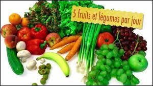 Dans l'idéal, il est conseillé de manger 5 fruits et légumes par jour :