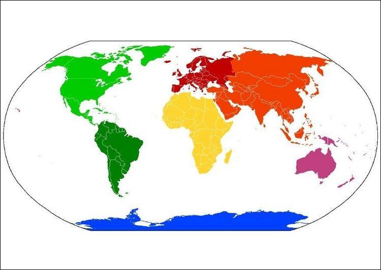 Quel est le continent en rouge ?