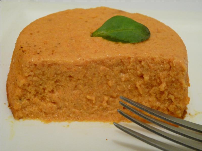 Vous vous essayée à une nouvelle recette : le flan de carottes. Vous goutez et vous trouvez ça :