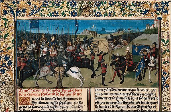 En 1214, la victoire du roi sur une coalition de ses ennemis autour de l'empereur germanique est célébrée comme la première victoire de la nation française. De quelle bataille s'agit-il ?