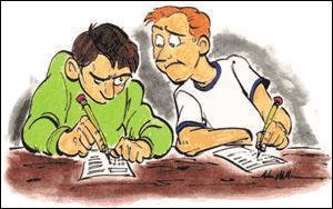 Tu dois ensuite surveiller un contrôle. Que décides-tu de faire en voyant un élève copier sur son voisin ?