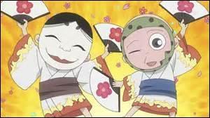 Qui sont les deux petits ''serviteurs'' du personnage principal avec des masques ?
