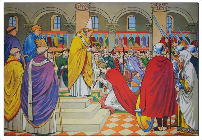 Où Charlemagne est-il couronné empereur ?