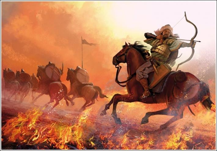 Quel peuple barbare originaire d'Asie Centrale envahit la Gaule romaine en 451 mais est finalement repoussé ?
